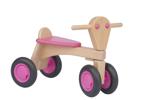 Bild von Loopfiets beukenhout roze Van Dijk Toys Vierwieler kinderfiets