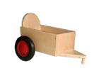 Bild von Aanhanger voor rode kinder-loopfiets beukenhout Van Dijk Toys