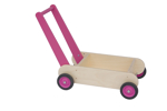 Picture of Leren loopwagen- roze Blokkenduwwagen hout 40x 30 cm Van Dijk Toys