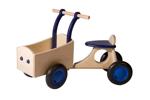 Picture of Blauwe houten bakfiets vierwieler-kinderloopfiets -Van Dijk Toys