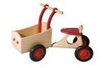Picture of Rode houten bakfiets vierwieler-kinderloopfiets-Van Dijk Toys