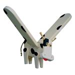 Afbeeldingen van Vliegfiguur Koe hout kinderkamer Van Dijk Toys