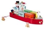 Afbeeldingen van Havenlijn Containerboot + 4 Containers New Classic Toys