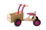 Picture of Roze houten bakfiets vierwieler -kinderloopfiets  -Van Dijk Toys