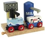 Image de Treingebouw Melk en water depot - Bigjigs