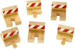Bild von Houten rails, stootblokken 6 stuks Bigjigs