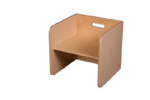 Picture of Blanke kubusstoel-kinderstoel met blanke zitting thuisgebruik 1-8 jaar Van Dijk Toys