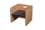 Picture of Blauw-blanke kubusstoel-kinderstoel met gekleurde zitting  thuisgebruik 1-8 jaar Van Dijk Toys