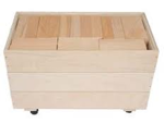 Picture of 80 Haagse Blokken 10 cm. Haagse blokken set 80 grote blanke houten bouwblokken in 3 stapelkisten Van Dijk Toys