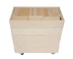 Picture of 202 Haagse Blokken 7,5 cm. Haagse blokken set 202 blanke beukenhouten bouwblokken  in 5 stapelkisten Van Dijk Toys