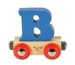 Bild von Letter B kleur, naamtrein - lettertrein Bigjigs