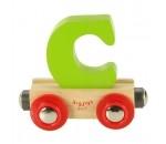 Bild von Letter C kleur, naamtrein - lettertrein Bigjigs