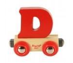 Bild von Letter D kleur, naamtrein - lettertrein Bigjigs