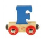 Bild von Letter F kleur, naamtrein - lettertrein Bigjigs