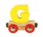 Bild von Letter G kleur, naamtrein - lettertrein Bigjigs