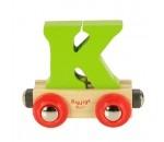 Bild von Letter K kleur, naamtrein - lettertrein Bigjigs