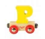 Bild von Letter P kleur, naamtrein - lettertrein Bigjigs