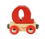 Bild von Letter Q kleur, naamtrein - lettertrein Bigjigs