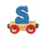 Bild von Letter S kleur, naamtrein - lettertrein Bigjigs