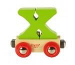 Bild von Letter X kleur, naamtrein - lettertrein Bigjigs