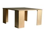 Picture of Kubustafel-kindertafel kleuter hout blank met 4 poten Van Dijk Toys
