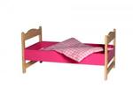 Afbeeldingen van Poppenledikant-roze poppenbed hout  Van Dijk Toys