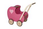 Picture of Poppenwagen vintage roze hout Van Dijk Toys