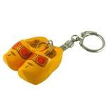 Image de Sleutelhanger klompjes Hout geel