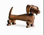 Afbeeldingen van Kay Bojesen houten Hond of Teckel 10,5 cm