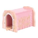 Afbeeldingen van Spoortunnel roze steen houten treinbaan Bigjigs