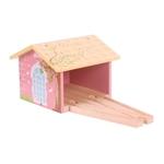 Bild von Treinremise roze houten treinbaan Bigjigs