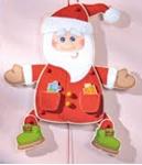 Afbeeldingen van Trekpop luxe kerstman HABA