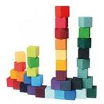 Afbeeldingen van Grimm's Blokkenset met 36 blokjes gekleurd