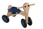 Bild von Loopfiets berken hout blauw Van Dijk Toys vierwieler kinderfiets
