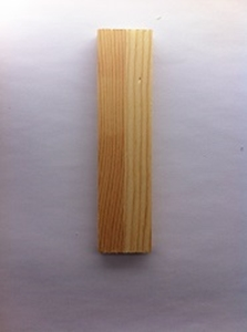 Afbeeldingen van Naamletter, deurletter blankhout Co&Co12 cm Letter I