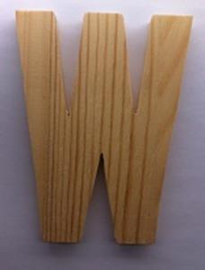 Bild von Naamletter, deurletter blankhout Co&Co12 cm Letter W