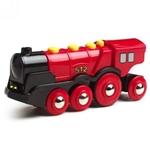 Bild von Brio Locomotief 8 wiels rood  op batterijen