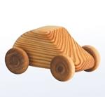 Afbeeldingen van Kleine auto - Houten speelgoed - lengte: 7 cm - hoogte: 5 cm - breedte: 4 cm