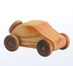 Afbeeldingen van Kleine personenwagen - Houten speelgoed - lengte: 10 cm - hoogte: 8 cm - breedte: 6 cm