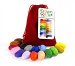 Afbeeldingen van Kleurkrijt wasco Soja  Red Velvet 16 kleuren - Crayon Rocks