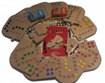 Picture of Keez totaalbox-2,4,6 en 8 persoons in  puzzelbord hout