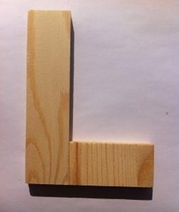 Bild von Naamletter, deurletter blankhout Co&Co12 cm Letter L