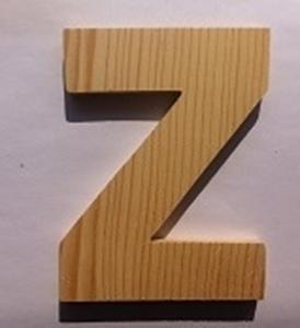 Afbeeldingen van Naamletter, deurletter blankhout Co&Co12 cm Letter Z