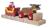 Afbeeldingen van Trein Kerstman-arreslee houten treinbaan Bigjigs