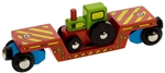 Afbeeldingen van Wagon, dieplader met tractor houten treinbaan Bigjigs
