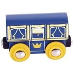 Afbeeldingen van Wagon koninklijk rijtuig houten treinbaan Bigjigs