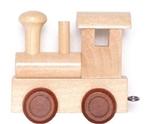 Image de Lettertrein blank lokomotief