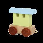 Image de Lettertrein wagon Alfabet gekleurd