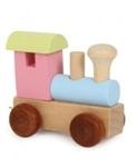 Afbeeldingen van Lettertrein Alfabet lokomotief gekleurd