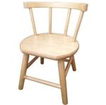 Picture of Kinderstoel, blank zitvlak gebogen leuning,  beukenhout Van Dijk Toys